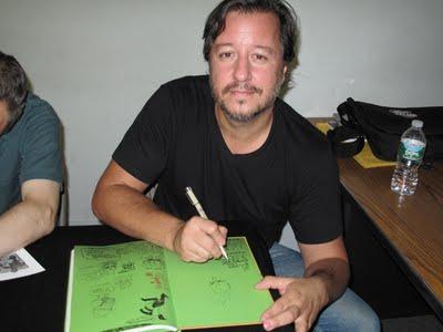 Dean Haspiel -- no stranger to a Jim Hanley signing.