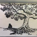 Inktober Sketch – Winnie the Pooh Tree