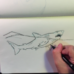 Inktober Sketch – Jaws