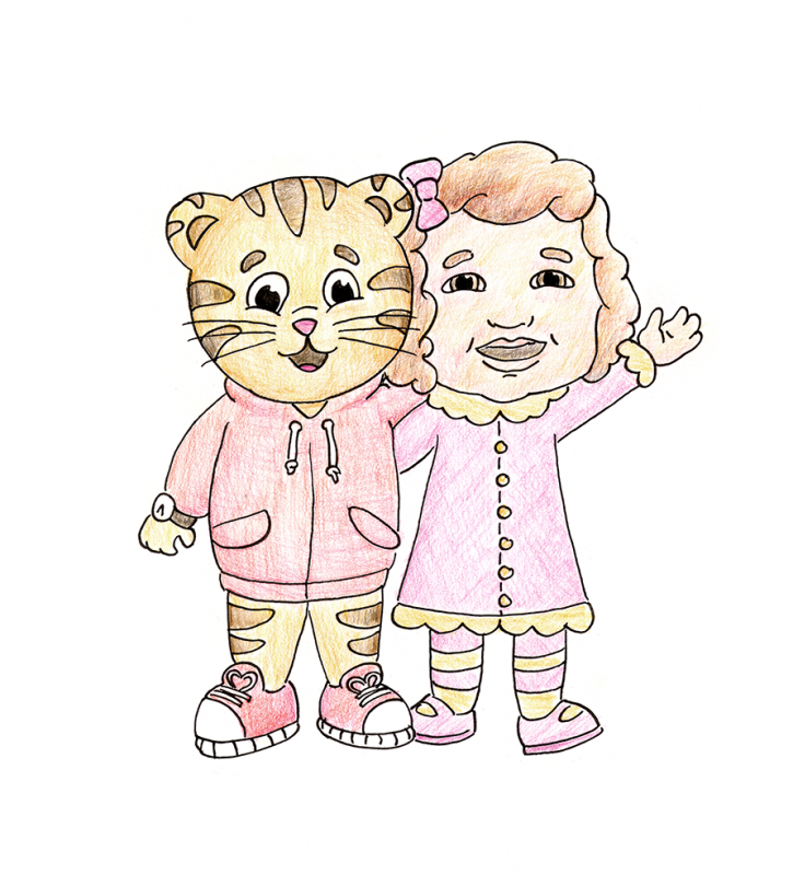 Freya and Daniel Tiger